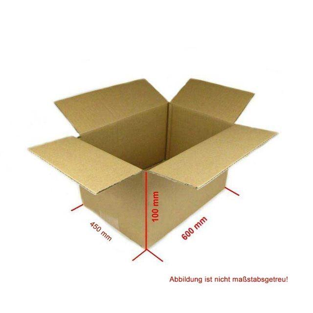 Karton 600x450x100 mm 50 Stück Versandkarton Faltkarton Braun